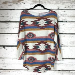 Southwest Aztec Ultra Soft Pullover Top Size Small